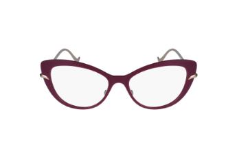 Caroline Abram et ses lunettes papillon en rose et argent