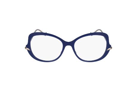 Caroline Abram crée des lunettes de vue unique aux montures bleues
