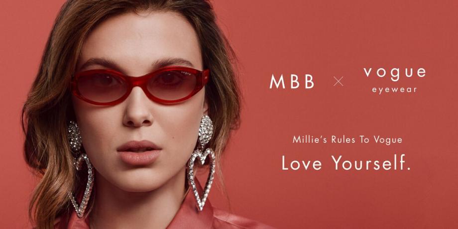Millie Bobby Brown et Vogue Eyewear lancent une collection rétro de lunettes de vue et de soleil